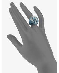 John Hardy - Metallic Sterling Silver Dot Dome Ring - Lyst