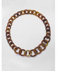 Kara Ross - Brown Tortoiselook Link Necklace - Lyst