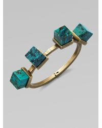 Kelly Wearstler | Blue Turquoise Bangle Bracelet | Lyst