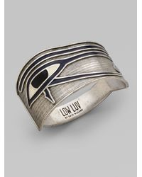 Low Luv by Erin Wasson | Metallic Evil Eye Cuff Bracelet | Lyst