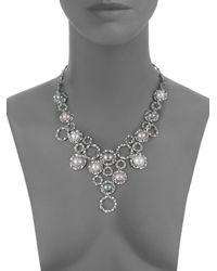 Majorica - 8mm White Nuage Grey Mabe Pearl Sterling Silver Bib Necklace - Lyst