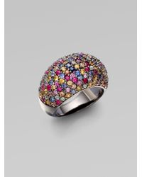M.c.l  Matthew Campbell Laurenza - Multicolor Stardust Multi-colored Sapphire Pavé Ring - Lyst