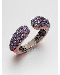 M.c.l  Matthew Campbell Laurenza | Purple Enamel Accented Semiprecious Multistone Cuff Bracelet | Lyst