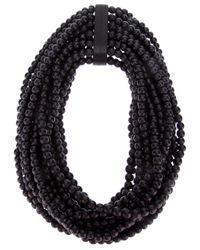Monies | Black Large Necklace | Lyst