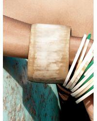 Nest - Natural Blonde Horn Bangle Bracelet - Lyst