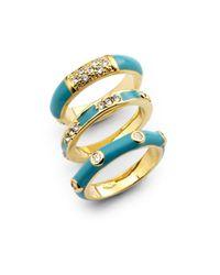 Noir Jewelry | Blue Enamel Ring Setturquoise | Lyst