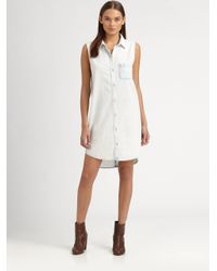 fe1e7652216 Rag & Bone Norfolk Denim Shirtdress in White - Lyst