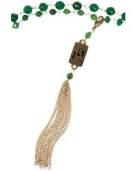 Rosantica - Green Rosarietto Golddipped Jade Necklace - Lyst