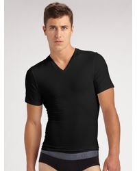 Spanx - White Cotton Compression Tee/v-neck for Men - Lyst