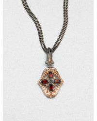Stephen Webster | Gray Two Tone Shark Jaw Filigree Necklace | Lyst
