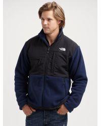 The North Face - Blue Denali Fleece Jacket for Men - Lyst