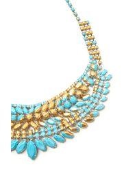 Tom Binns | Blue Gilded Pleasure Collar Necklace | Lyst