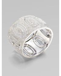 Adriana Orsini - Metallic Pav233 Mod Hinged Bracelet - Lyst
