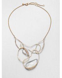 Alexis Bittar | Metallic Ophelia Lucite Vine Bib Necklace | Lyst