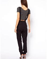 dbb5c0dc669 Lyst - ASOS Collection Tailored Dungarees in Black