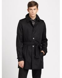 966b9b95b704 Lyst - Burberry Britton Single Breasted Trench Coat in Black for Men