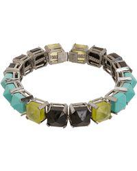 Fenton - Metallic Shinde Pointed Gem Collar - Lyst