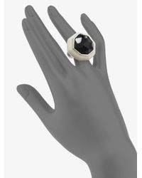 Ippolita - Black Onyx Sterling Silver Resin Ring - Lyst
