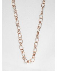 Ippolita - Metallic Rose Carino Long Kidney Chain Necklace - Lyst