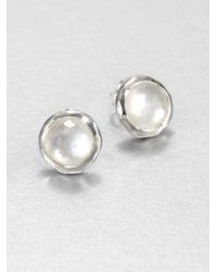 Ippolita | Metallic Wonderland Mother-of-pearl, Clear Quartz & Sterling Silver Lollipop Doublet Stud Earrings | Lyst