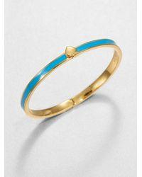 kate spade new york - Blue Slim Spade Bracelet - Lyst