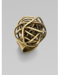 Kelly Wearstler - Metallic Knot Ring - Lyst