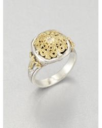 Konstantino - Metallic Diamond 18k Gold Sterling Silver Ring - Lyst