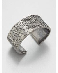 Marc By Marc Jacobs - Metallic Dragon Scale Cuff Bracelet - Lyst