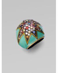 M.c.l  Matthew Campbell Laurenza - Starstuck Multicolored Sapphire Pavé Ring - Lyst