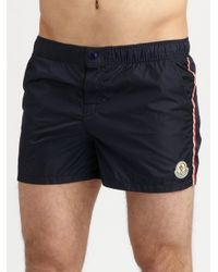 Moncler | Blue Classic Swim Trunks for Men | Lyst