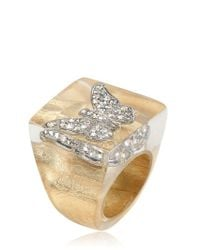 Nicholas King | Metallic Gold Butterfly Ring | Lyst