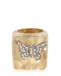 Nicholas King - Metallic Gold Butterfly Ring - Lyst