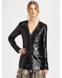 Rachel Zoe | Black Bailey Sequin Cardigan | Lyst
