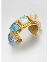 Stephen Dweck - Metallic Agate Bronze Cuff Bracelet - Lyst