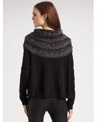 Theory - Black Wool/cashmere Cowlneck Sweater - Lyst