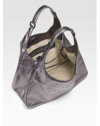 Tory Burch | Dafina Metallic Embossed Leather Hobo | Lyst