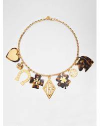 Tory Burch | Metallic Charm Necklace | Lyst