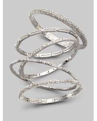 Adriana Orsini - Metallic Singlerow Solitaire Bracelet - Lyst