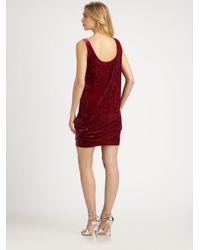 Aidan Mattox - Natural Asymmetrical Draped Dress - Lyst