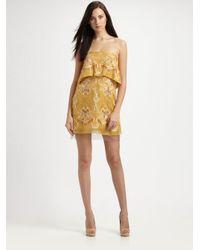 BCBGMAXAZRIA | Brown Samantha Tiered Dress | Lyst