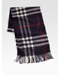 Burberry | Black Cashmere Check Scarf for Men | Lyst