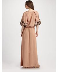Elizabeth and James - Natural Roblyn Embroidered Dress - Lyst
