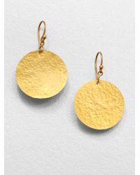 Gurhan - Metallic 24k Yellow Gold Disc Earrings - Lyst