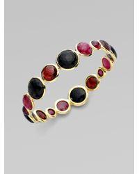 Ippolita | Metallic 18k Gold Ruby Cabochon Bangle | Lyst