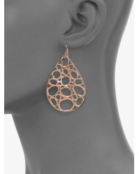 Ippolita - Pink Rose Digital Lace Large Teardrop Earrings - Lyst