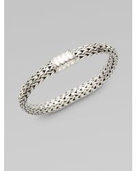 John Hardy | Metallic Classic Chain Diamond & Sterling Silver Extra-small Bracelet | Lyst