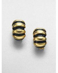 Kenneth Jay Lane | Ribbed Shrimp Clipon Earringsblack | Lyst