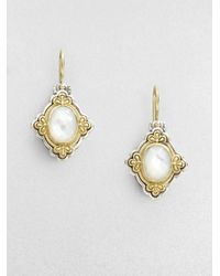 Konstantino | Metallic Motherofpearl Sterling Silver and 18k Yellow Gold Earrings | Lyst
