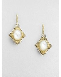 Konstantino - Metallic Motherofpearl Sterling Silver and 18k Yellow Gold Earrings - Lyst