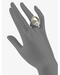 Konstantino - Metallic Prasiolite Sterling Silver and 18k Yellow Gold Ring - Lyst
